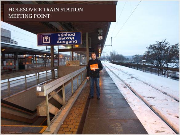 Arrival Holesovice Train Station